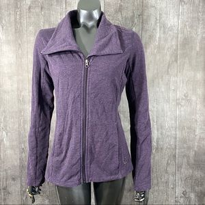 Tuff Athletics Small Purple Zip Up Workout Jacket